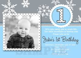 Snowflake Birthday Invitations Boys Winter Snowflake Boys Birthday Photo Invitations