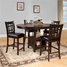 oval dining room tables amazing homelegance junipero 5 piece counter height dining table set