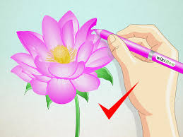 How To Make Big Lotus Flower From Paper How To Draw A Lotus Flower 7 Steps With Pictures Wikihow