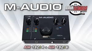 <b>Аудиоинтерфейсы M</b>-<b>AUDIO AIR</b> 192|4 и <b>M</b>-<b>AUDIO AIR</b> 192|6