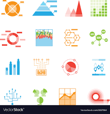 Vector Graphs And Charts Graphs And Charts Icons Or Infographic Elements