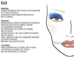 Make Up Bandit Mac Face Chart Blue