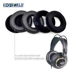 BGWORLD thay thế miếng đệm Tai earpad đệm earmuff BỌT đối với AKG K240  K240S K240 STUDIO K240 MKII tai nghe phần miếng bọt biển|ear pads|ear pad  replacementreplacement ear pads - AliExpress