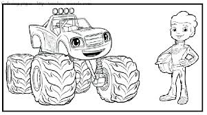 Monster Truck Printable Coloring Pages Truck Coloring Pages Free