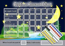 Happy Learners Limited Bedtime Night Time Reward Chart Kids Childrens Sticker Star Sleep In Own Bed