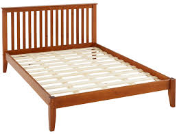 Mission Style King Size Platform Bed - Cherry Finish