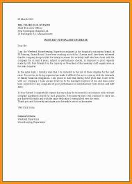Salary Increase Letter To Employer Format Of Request Letter