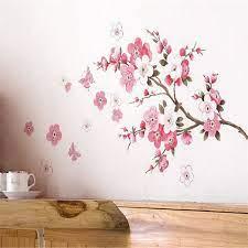 plum cherry blossom flower wall decal