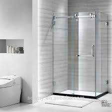 frameless shower door with towel bar amazing chrome framed sliding and brackets home ideas 43