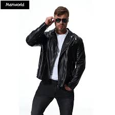 2018 new men s locomotive large size leather multi zip leather jacket black 5xl
