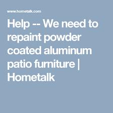 how to repaint powder coated aluminum