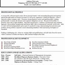 Finance Resume Examples Best Of Resume Professional Profile