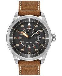 citizen men s eco drive brown leather strap watch 45mm aw1361 10h citizen men s eco drive brown leather strap watch 45mm aw1361 10h