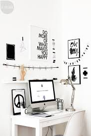 black and white office decor. Simple Office/workspace, With Black And White Decor An Inspiring Quote On The Wall. Office