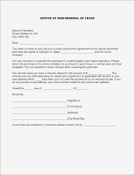 Nonrenewal Of Lease Letter Template Samples Letter