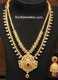 Gold Step Haram Designs With Weight Two Step Uncut Diamond Mango Haram Jewelry Uncut Diamond