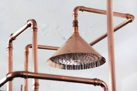 Copper shower fixtures Ideas Stunning Copper Pipes Shower Installation By Axor designboomcom Failed Oasis Industrial Touches 24 Exposed Copper Pipe Decorating Projects