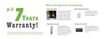 merlin garage door openers