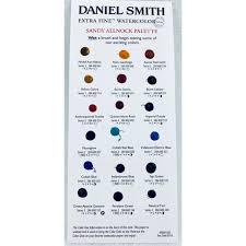 Sandy Allnock Palette Daniel Smith Extra Fine Watercolor Dot Chart