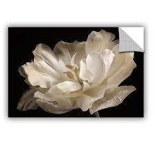 artappealz sagebrush cora niele x27 s x27 white tulip x27 on black and white tulip wall art with shop artappealz sagebrush cora niele s white tulip removable wall