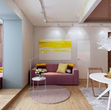 Living Room Entrance Designs The Living Room And Kitchen Abstract Painting Beautiful Interior