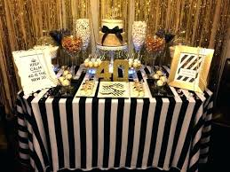 black and gold table decorations black white and gold table decorations fun birthday party decorating ideas