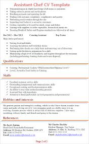 Chef Cv Template Assistant Chef Cv Template Tips And Download Cv Plaza