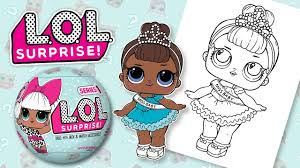 Lol Surprise Doll Miss Baby Coloring Toy Book Pages Youtube