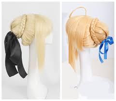 Fate/stay night black Saber Arturia Pendragon cosplay wig Saber ...