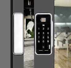 biometric fingerprint door lock for commercial glass door