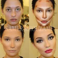 wow forget the contouring the eye make up and lips make her look like a diffe person