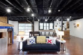 Wonderful Painted Basement Ceiling Ideas B With Impressive
