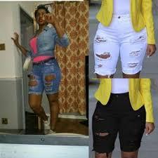 Sexy Womens Elastic Hole Short Pants Ripped Denim Jeans ... - Vova