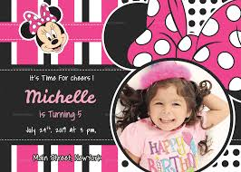 Minnie Mouse Invitation Design Sparkling Minnie Mouse Birthday Invitation Card Template