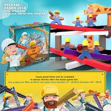 pretzel games announces new wood game men at work