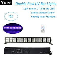 Black Light With Remote Low Price 10 Units 24x3w Uv Color Stage Black Light Led Bar