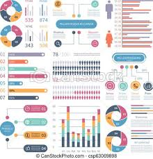 Infographic Graphs Business Chart Process Infochart Diagram Option Flowchart With People Icons Vector Financial Infographics Elements