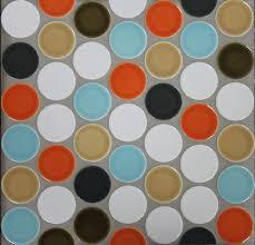 Circle Tiles Ceramic 2 Inch Circle Offset Sheeted Tile Modwalls Designer Tile