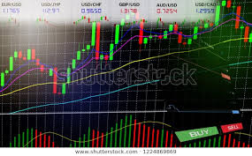 Eur Cad Investing Chart Stock Exchange Market Forex Trading Graph Stock Illustration