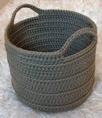 Free Crochet Basket Patterns Delectable Chunky Crocheted Basket By Elizabeth Pardue Free Crochet Pattern