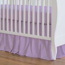 pastel purple heather crib skirt 17 inch gathered