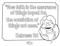 Hebrews 11 1 Coloring Page Whats