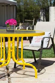 Image Wrought Iron Patio Colorful Patio Furniture Bright Colored Patio Furniture Round Glass Topped Yellow Dining Tabe With Footymundocom Patio Amusing Colorful Patio Furniture Colorfulpatiofurniture