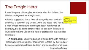 tragic hero flipped lecture
