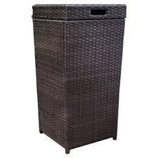 small wicker wastebasket with lid.  Wastebasket Belton Manual Wicker Trash Can In Small Wastebasket With Lid S