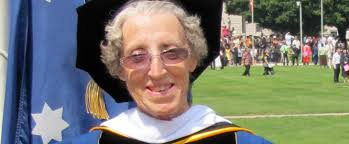 Missionary receives honorary doctorate. Photo Source: - Helen_Hall_Web