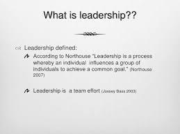 Define Team Leader Team Leadership