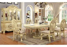 wyndmere white dining table w 4 side chairs 2 arm chairs furniture of