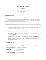 Sample Professor Resume Sample Resume Objective For Freshers Fresher Lecturer Resume