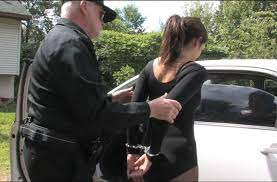 Girl are handcuffed behind the black porn